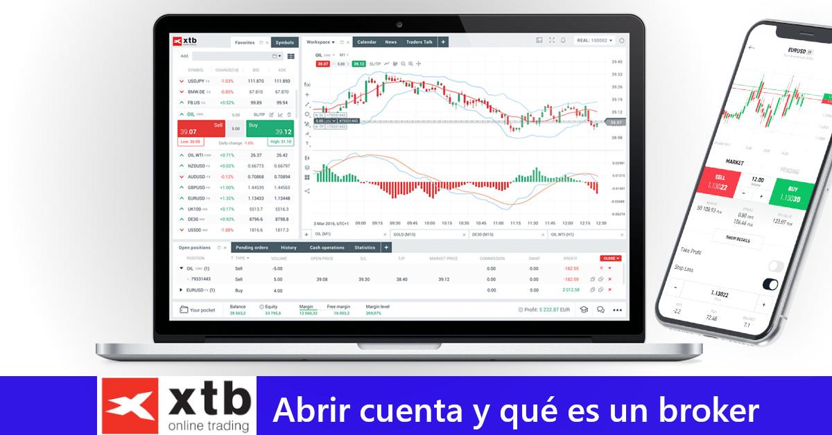 XTB: Abrir cuenta y qué es un broker